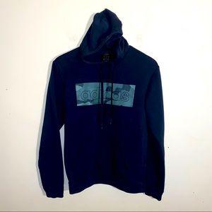 ADIDAS black/camp drawstring hoodie S